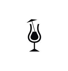 isolated martini icon nightclub element vector image