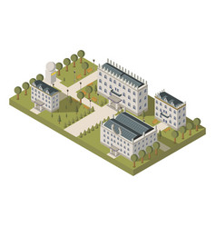 Isometric university concept vector
