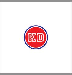 k d letter logo icon design vector image