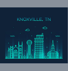 knoxville skyline tennessee usa line style vector image