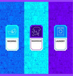 laundry package labels vector image