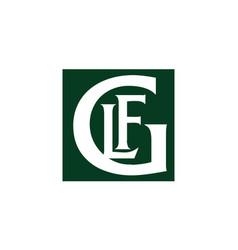 Letter glf logo vector