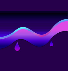 liquid wave violet color modern trend background vector image