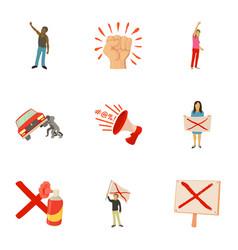 massacre icons set cartoon style vector image