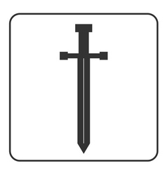 Medieval sword icon silhouette vector