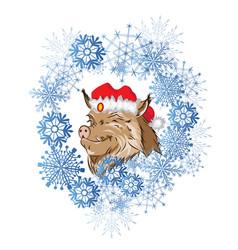 new year 2019 boar vector image