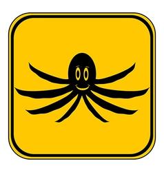 Octopus button vector image