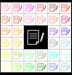 paper and pencil sign felt-pen 33 vector image