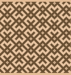 pixelated chocolate brown square pattern vector image