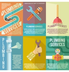 Plumbing icons composition poster vector