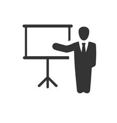 Presentation lecture icon vector