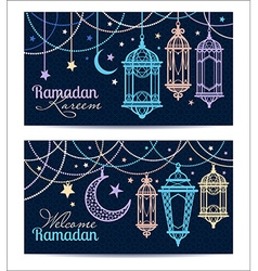 Ramadan Kareem Islamic background Banners for vector