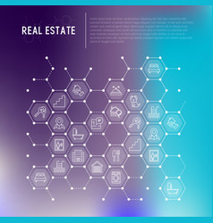 real estate concept in honeycombs vector image