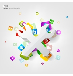 repair icon Application buttonSocial mediaCloud vector image