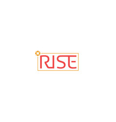 rise-logo vector image