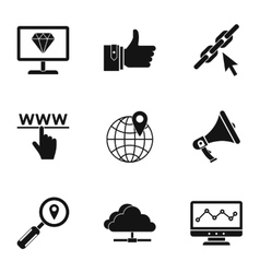 SEO icons set simple style vector