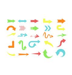 set different colors arrows vector image