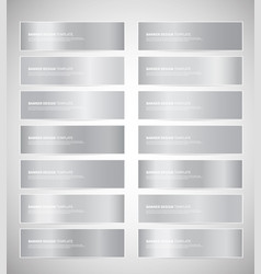 set of silver gradient banners templates vector image