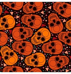 Skull with polygonal ornamentHalloween background vector image
