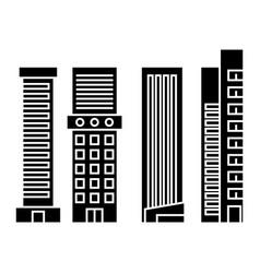 skyscraper black icon concept skyscraper vector image
