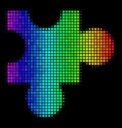 Spectral colored dot plugin icon vector