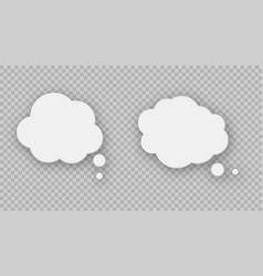 speech bubbles on transparent background vector image