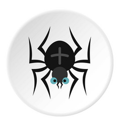 Spider icon circle vector