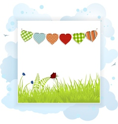 Spring background panel vector