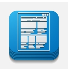 square button interface vector image