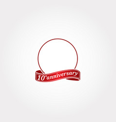 template logo 10th anniversary with a circle and vector image