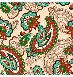 Turkish cucumber seamless pattern beige style vector