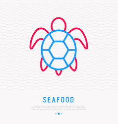 turtle thin line icon modern vector image