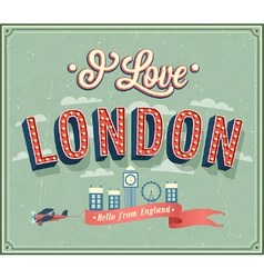 vintage greeting card from london vector image