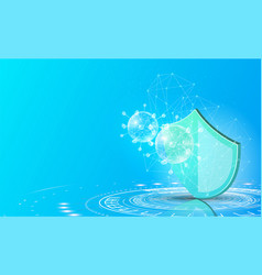 virus protection website page template shield vector image