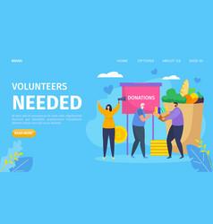 Volunteer needed cartoon concept vector