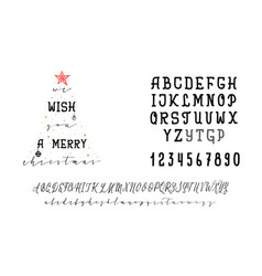 we wish you a merry christmas handwritten vector image