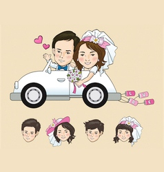 Wedding Cartoon vector image
