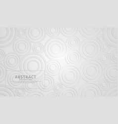 White modern geometric shape abstract background vector