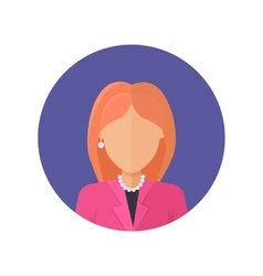 Woman Character Avatar in Flat Design vector image