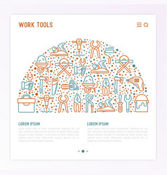 work tools concept in half circle vector image