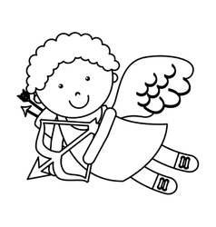 cute angel cupid character vector image vector image