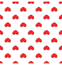 Red boxing gloves pattern cartoon style vector image