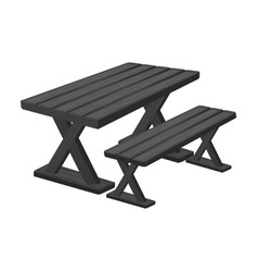 Table for restbbq single icon in monochrome style vector