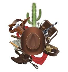 Cowboy concept with hat vector