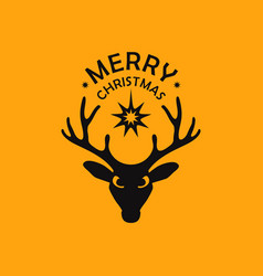 Deer and star vector