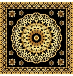 Shawl with circular gold pattern vector image vector image