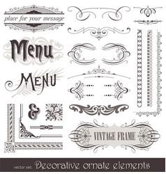 Vintage filigree elements vector