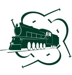 Abstract icon with an old locomotive-2 vector image