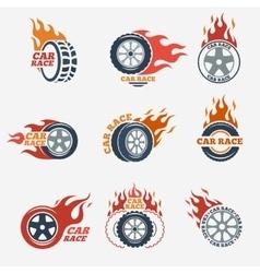 Racing flat labels vector image vector image