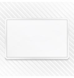 White Frame on Striped Background vector image